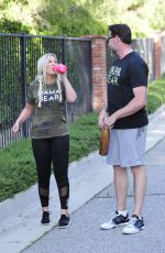TORI SPELLING and Dean McDermott Out for a Power Walk in Los Angeles 04/25/2018