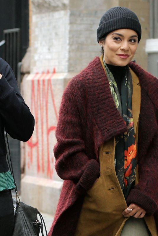 VANESSA HUDGENS on the Set of Second Act in New York 05/06/2018