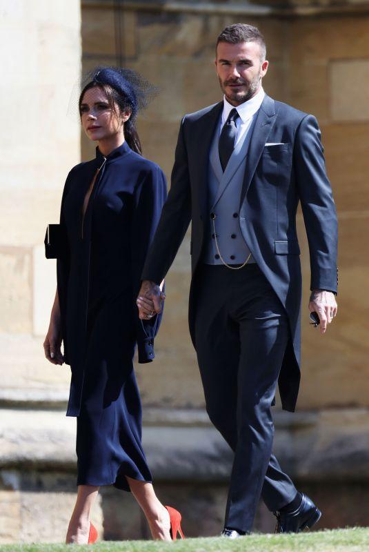 VICTORIA and David BECKHAM Arrives at Royal Wedding at Windsor Castle 05/19/2018