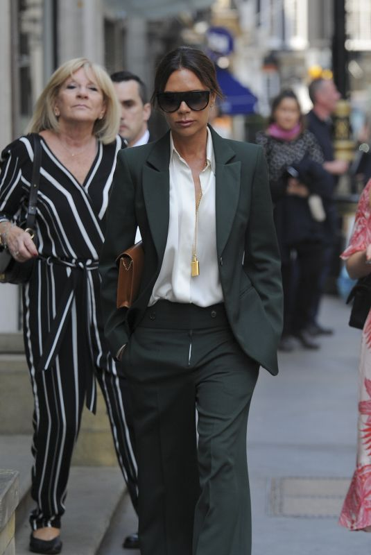VICTORIA BECKHAM Out at Dover Street in London 05/22/2018