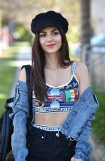 VICTORIA JUSTICE in Shorts Out in Los Angeles 05/18/2018