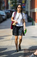 ZOE KRAVITZ Out and About in New York 05/26/2018