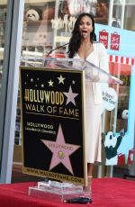 ZOE SALDANA Honored with Star on the Hollywood Walk of Fame in Los Angeles 05/03/2018