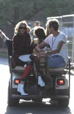 ABIGAIL ABBEY CLANCY and Peter Crouch at Golf Cart at Isle of Wight Festival 06/22/2018