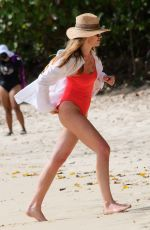 ABIGAIL ABBEY CLANCY in Swimsuit at a Beach in Barbados 06/12/2018