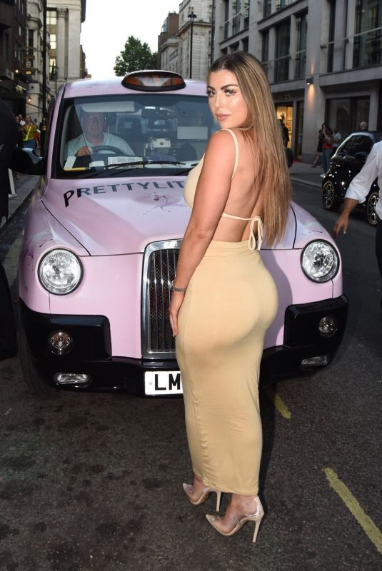 ABIGAIL CLARKE Arrives at Prettylittlething x Maya Jama Launch Party in London 06/25/2018