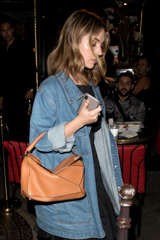 ADELAIDE KANE at Cesar Restaurant in Paris 06/03/2018