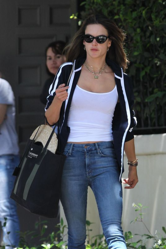 ALESSANDRA AMBROSIO in Jeans Out in Los Angeles 06/25/2018