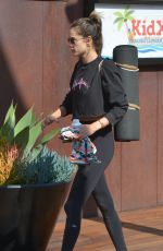 ALESSANDRA AMBROSIO Leaves a Gym in Malibu 06/08/2018