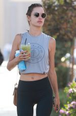 ALESSANDRA AMBROSIO Leaves Kreation Organic Juicery in Brentwood 06/13/2018