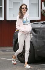 ALESSANDRA AMBROSIO Out for Breakfast in Brentwood 06/19/2018