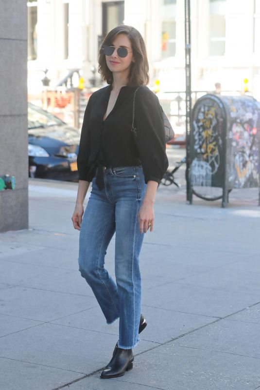 ALISON BRIE in Jeans Out in New York 06/19/2018