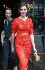 ALISON BRIE Leaves Bowery Hotel in New York 06/20/2018