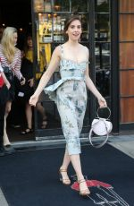 ALISON BRIE Leaves Her Hotel in New York 06/20/2018