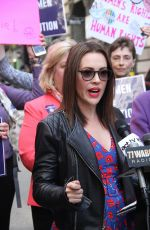 ALYSSA MILANO at Era Coalition Call for Ratification of the Equal Rights Amendment in New York 06/04/2018