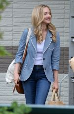 AMANDA SEYFRIED on the Set of The Art of Racing in the Rain in Port Coquitlam 06/29/2018