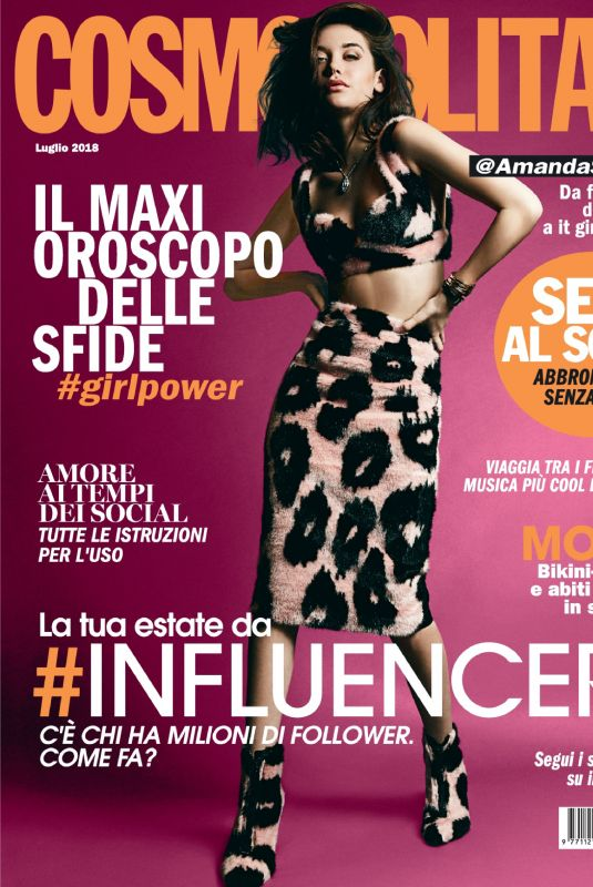 AMANDA STEELE in Cosmopolitan Magazine, Italy July 2018 Issue