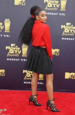 AMANDLA STENBERG at 2018 MTV Movie and TV Awards in Santa Monica 06/16/2018