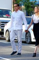 AMBER HEARD and Vito Schnabel Out for Dinner at Bar Pitti in New York 06/05/2018