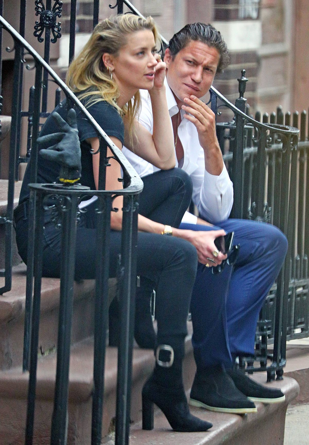 amber heard and vito schnabel out in new york 06072018