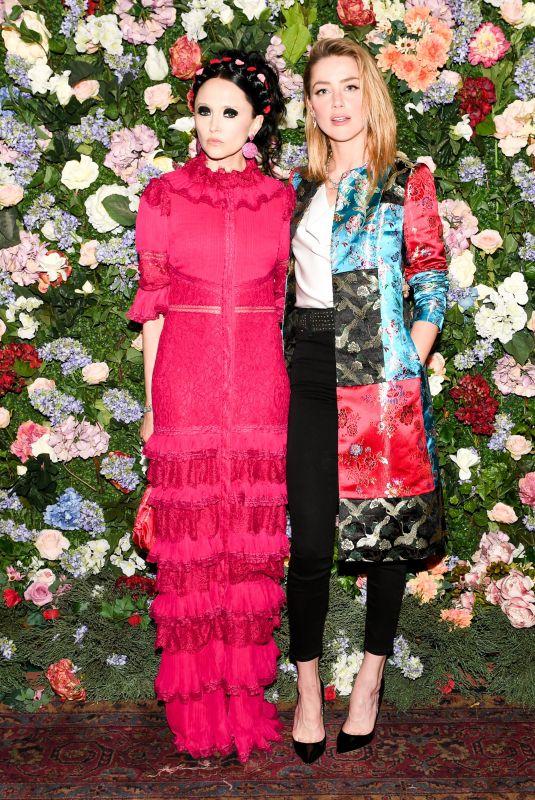AMBER HEARD at Alice and Olivia x Ecco Domani Designer Label Launch in New York 06/07/2018