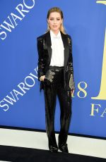 AMBER HEARD at CFDA Fashion Awards in New York 06/05/2018