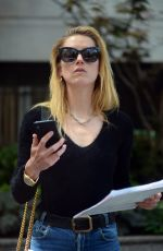 AMBER HEARD Leaves a Clinic in New York 06/06/2018