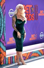 AMBER ROSE at BET Awards in Los Angeles 06/24/2018