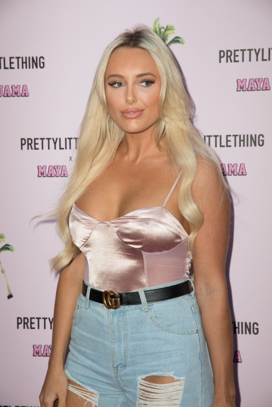 AMBER TURNER at Prettylittlething x Maya Jama Launch Party in London 06/25/2018