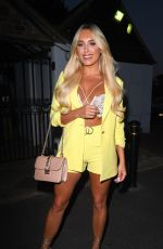 AMBER TURNER, COURTNEY GREEN and CHLOE MEADOWS Out for Dinner in Essex 06/28/2018