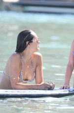 AMY JACKSON and KINBERLEY GARNER in Bikinis at a Beach in Mykonos 06/13/2018