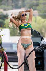ANA BRAGA in Bikini at a Gas Station in Los Angeles 06/16/2018