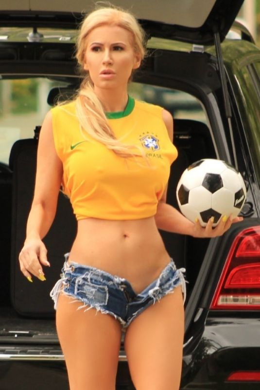 ANA BRAGA Support Brazil in a Jersey 06/22/2018