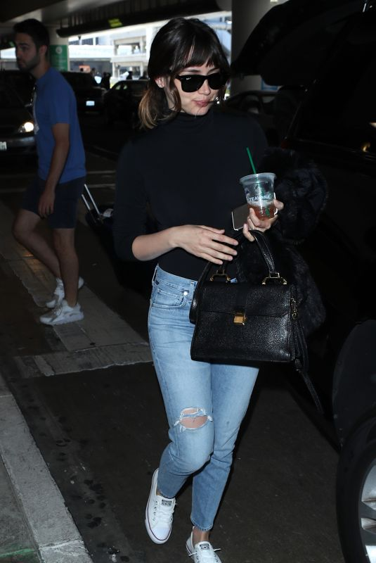 ANA DE ARMAS in Jeans at LAX Airport in Los Angeles 06/13/2018