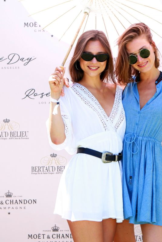 ANASTASIA MIKHAILUK and GINA ZHEL at Rose Day LA Launch in Los Angeles 06/09/2018