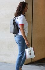 ANDREA MCLEAN Arrives at BBC Radio in London 06/24/2018