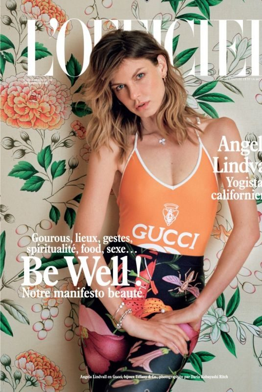 ANGELA LINDVALL for L'Officiel Paris, June/July 2018