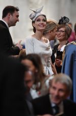 ANGELINA JOLIE at a Service Marking 200th Anniversary of Order of St Michael and St george in London 06/28/2018