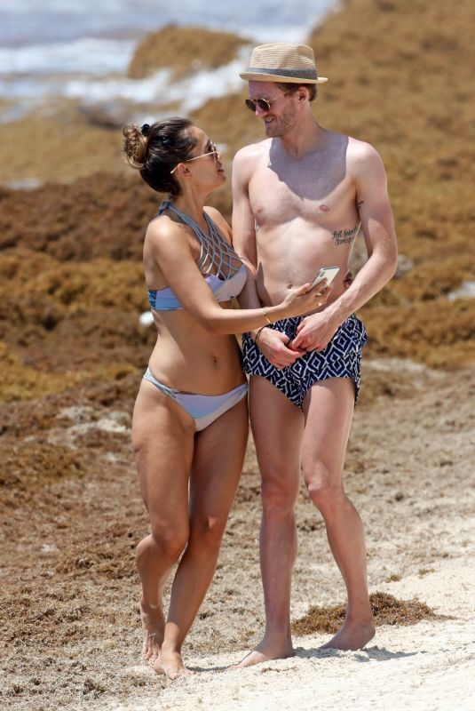 ANNA SHARYPOVA in Bikini and Andre Schurrle at a Beach in Tulum 05/28/2018