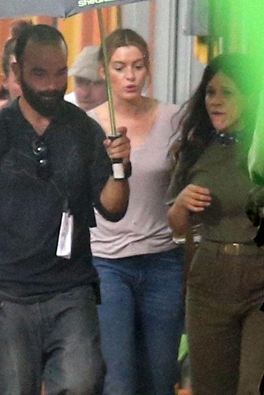 ANNE HATHAWAY on the Set of The Last Thing He Wanted in San Juan 06/19/2018