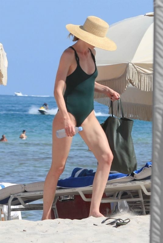 ANNE VYALITSYNA in Swimsuit on the Beach in Miami 06/17/2018