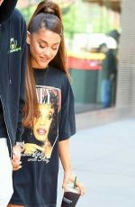 ARIANA GRANDE Out and About in New York 06/25/2018