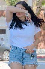 ARIEL WINTER in Denim Shorts Out in Studio City 06/18/2018