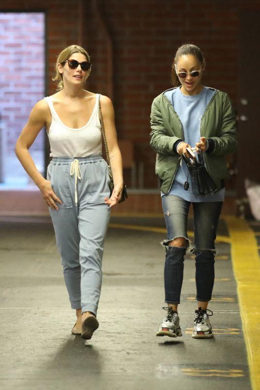 ASHEY GREENE and CARA SANTANA at a Nail Salon in Beverly Hills 06/06/2018