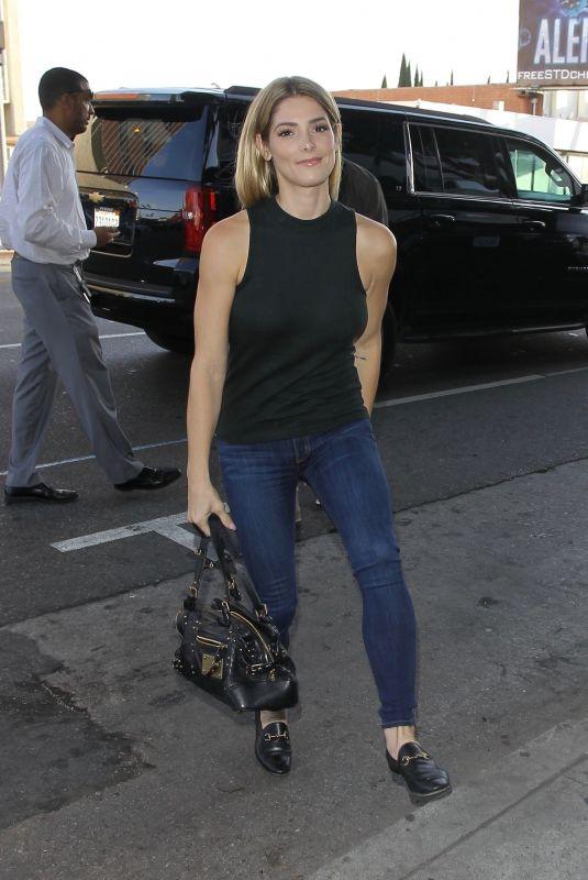 ASHLEY GREENE Leaves Warwick in Hollywood 06/29/2018
