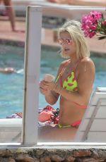 ASHLEY JAMES in Bikini on Holiday in Ibiza 06/07/2018