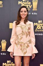 AUBREY PLAZA at 2018 MTV Movie and TV Awards in Santa Monica 06/16/2018