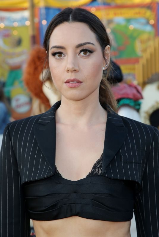 AUBREY PLAZA at Moschino Fashion Show in Los Angeles 06/08/2018