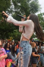 BEA MILLER Performs at NYC Pride in New York 06/23/2018