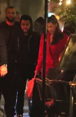 BELLA HADID and The Weeknd Out for Dinner in Paris 05/31/2018